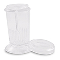 Glass Coplin Jar w/Glass Cap 10 slide