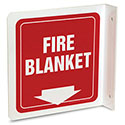 Fire Blanket L-projecting Wall Sign